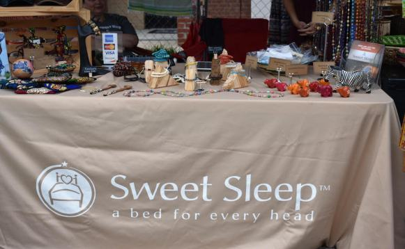 Charity organization Sweet Sleep acts as a vendor in support of 6-1-5 Day. (Genesis Rodriguez / Sidelines)
