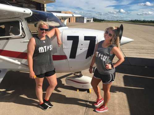 Team 77 poses with their matching team tank tops. (Submitted: Gabriella Lindskoug)