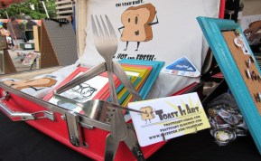 Toast is Art provides guests with items for sale at the Mayday Brewery Folk 'N Art Festival in Murfreesboro, Tenn. on July 15, 2017. (Steve Barnum / MTSU Sidelines)