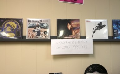 Waxface Records displays some of their best vinyl for purchase. (Krystal Loritts / MTSU Sidelines)