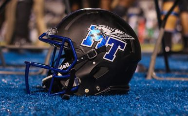Middle Tennessee lost 38-10 in the annual Blackout game against Marshall on October 20, 2017 in Murfreesboro, TN (Devin P. Grimes/ MTSU Sidelines).
