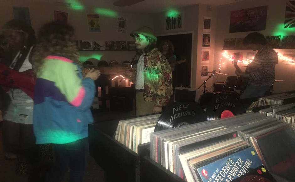 Waxface Records provides music, networking at 70s themed party