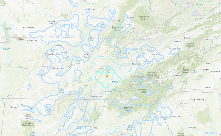 Rare 4.4 earthquake hits Eastern Tennessee