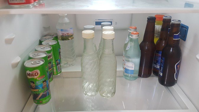 soda stream bottles in the fridge