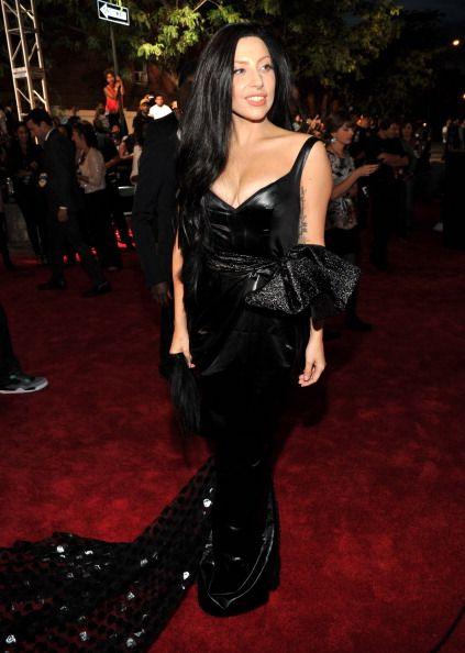 La alfombra roja de los VMAs 2013 - Lady Gaga con un vestido de Prabal Gurun