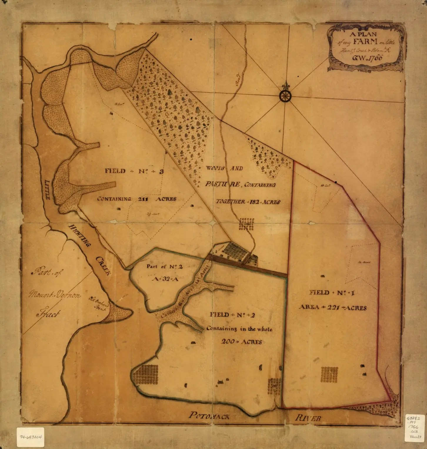 Little Hunting Creek Map George Washington S Mount Vernon
