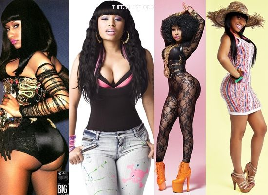 Biggest Celebrity Bootilicious Butts In Hollywood - Nicki Minaj is the full package from rapping to marvelous rack to delicious booty. Rumours flew that she had butt implants (can you imagine).. she responded