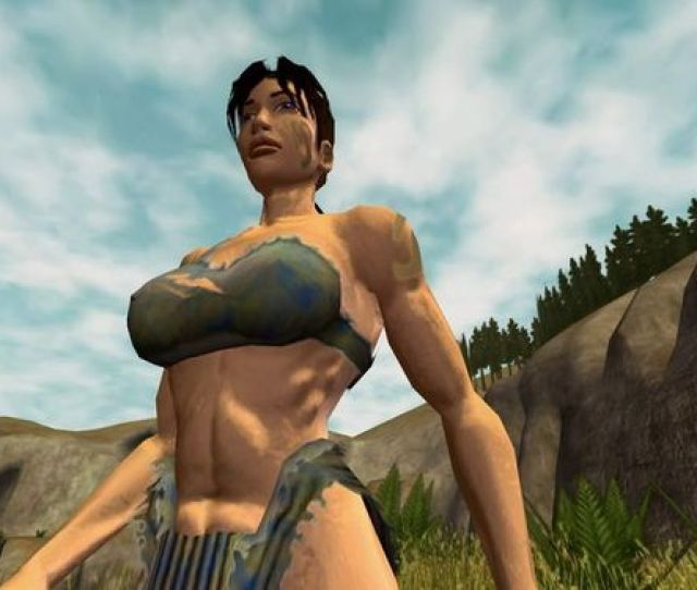 What May Have Become A Trademark Of The Game Busty Cavewomen Note The Bump