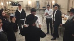 Rabbi Yitzchuck dancing with his Chavrusa