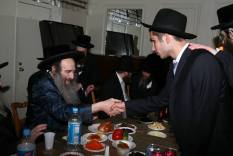 Kaliver Rebbe with a Student