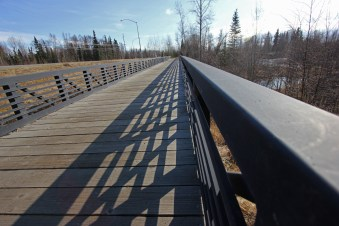 The trail includes several bridges like this.