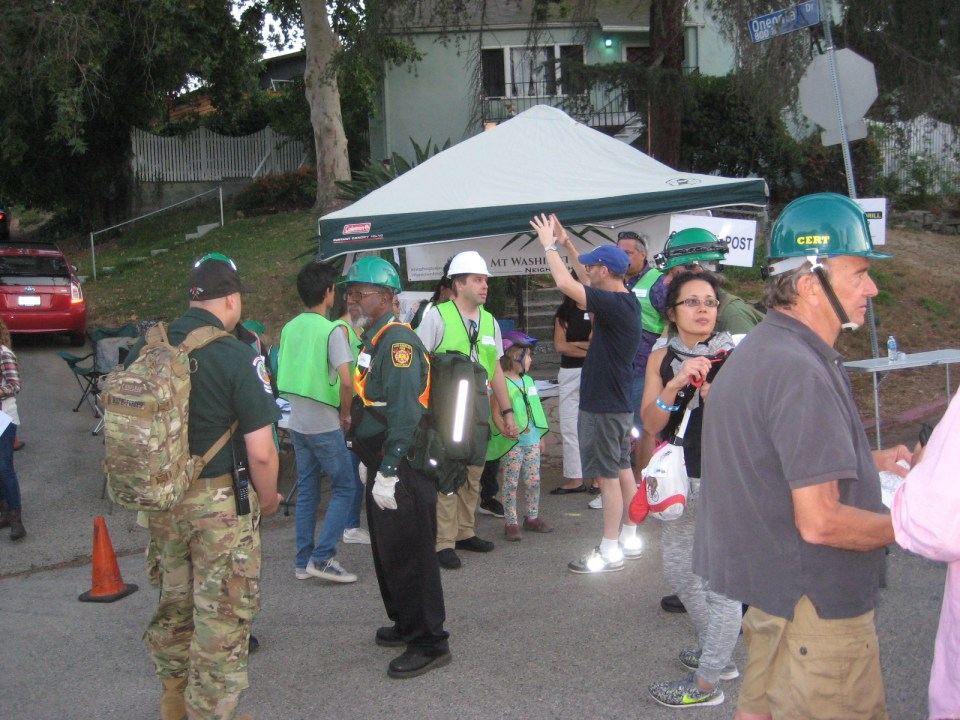 """CERT and the State Reserves showed up to assist the """"MYN"""" blocks in the August 2017 Drill"""