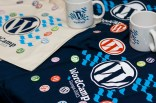 Brindes do WordCamp - Design por Diego Rojas