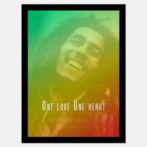 Quadro Bob Marley One Love One Heart