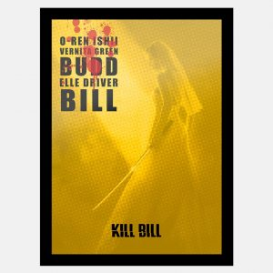 Quadro Kill Bill Lista