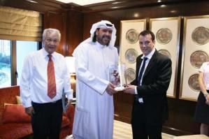 His Royal Highness Ahmad Al-Fahad Al-Sabah with Stephan Fox