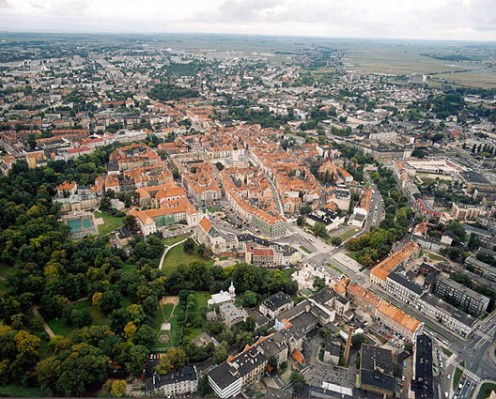 Kalisz seen from the air
