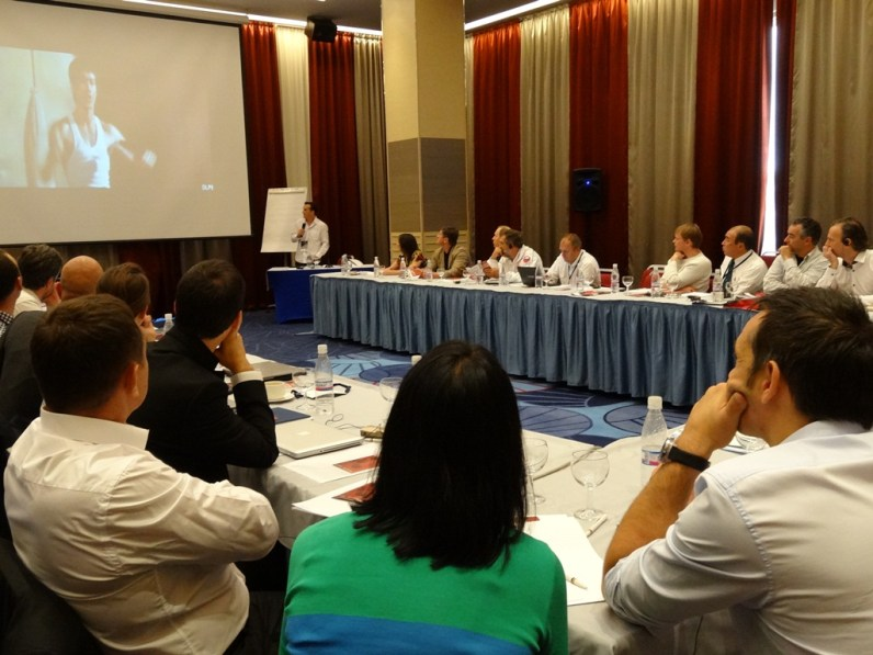 IFMA General Secretary presenting