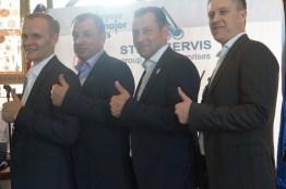 RUMA Chief Executive P. Zhuravlev & RMTF President D. Putilin & team