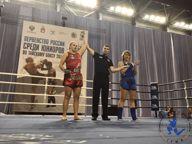 Viktoriia Zhbankova - winning the gold medal of the Russian Championships