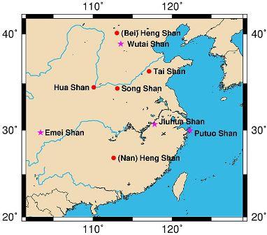 Montanhas Sagradas da China