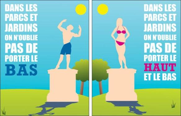 What to not not wear in Paris parks, pic: Mairie de Paris