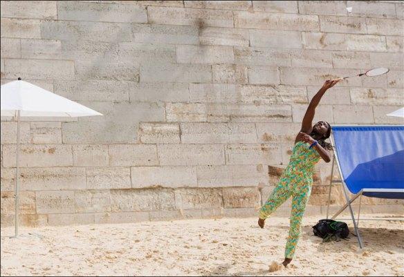Racquets on the plage; pic: Jean-Baptiste Gurliat/Mairie de Paris