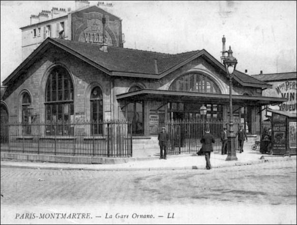 Gare du Boulevard Ornano (built 1878)'; pic: Amis de la petite ceinture