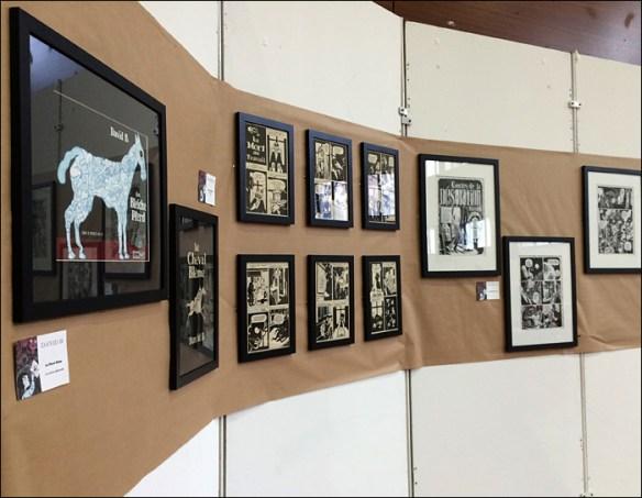 """""""So BD"""" festival, David B's art on show; pic: Steve Sampson"""