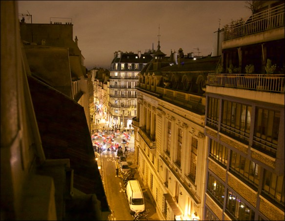 Carabalade from our window; pic: Steve Sampson