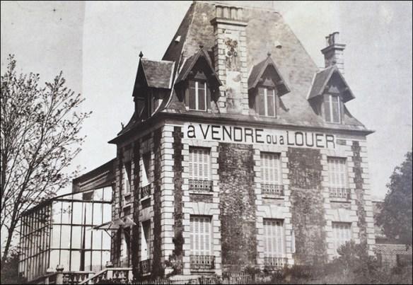 """Rodin's future home, """"To Buy or Rent""""; pic; Villa des Brillants"""