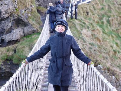 Brenda at the rope bridge