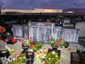 Memorial to some of the fallen Republicans at the Catholic Cemetery on Andersontown Rd in Belfast