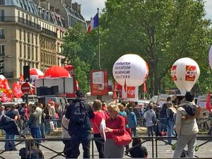 French labor protest