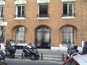 Eisenhowers lived upstairs in this photo of the apartment at 68 Building where Eisenhower lived in Paris in 1928, now 68 Quai Louis Blériot