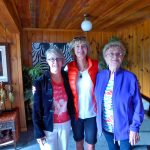 Joanie, Brenda, and Beth in Idaho celebrating Beth's 90th.