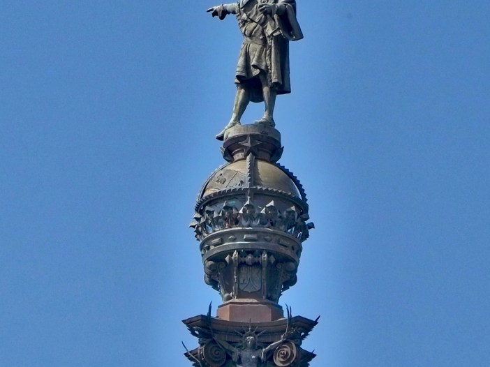 Statue of Christopher Columbus in Barcelona, Spain