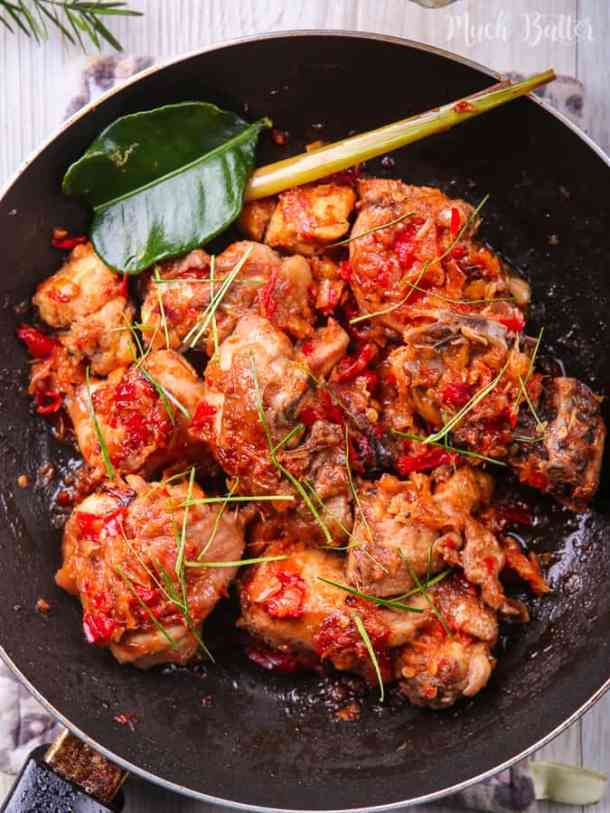 Indonesian spicy chicken or we call it ayam rica-rica is savory and spicy chicken dishes from North Sulawesi. Hearty and satisfying meal for those who love spicy foods.