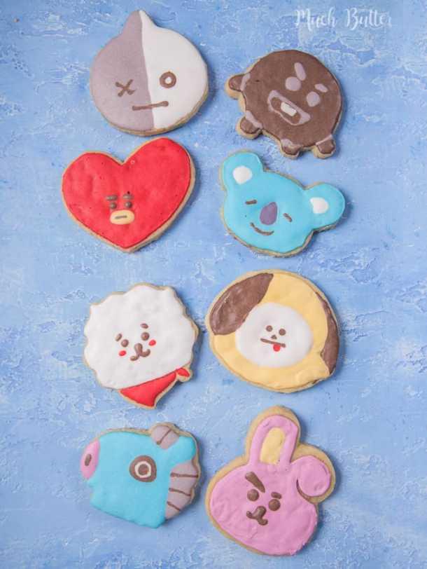 BTS BT21 Sugar Cookies is sugar cookies based on character made by members of famous KPop Group BTS (Bangtan Sonyeondan).