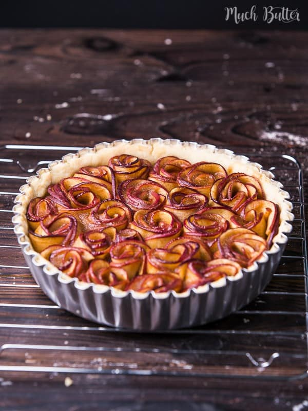 Rose apple pie is a pretty dessert to try for fall seasons. Although the rose comes from the presentation and not the flavor, it is so beautiful.