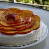 Nectarine & Almond Layer Cake {gluten-free}