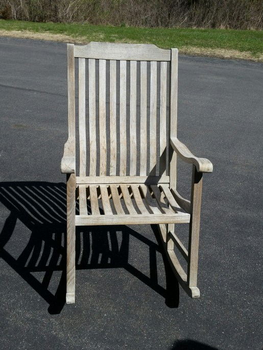Here is the my rocking chair ~ only sanded now ~