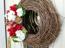 Just adding red & white hydrangeas made such a difference ~