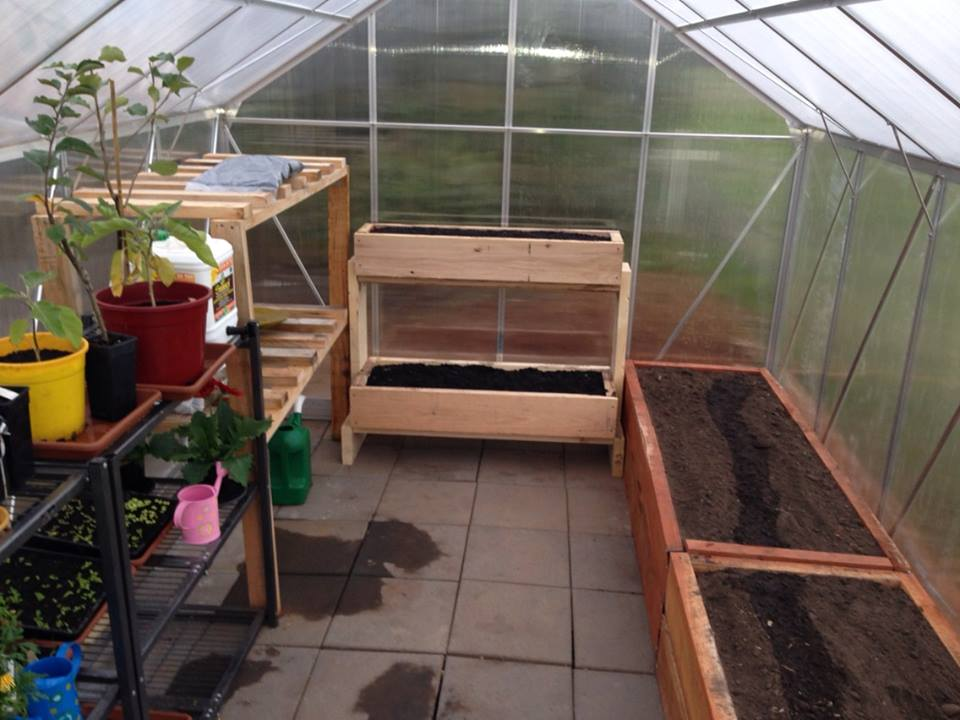 Greenhouse – initial fitting