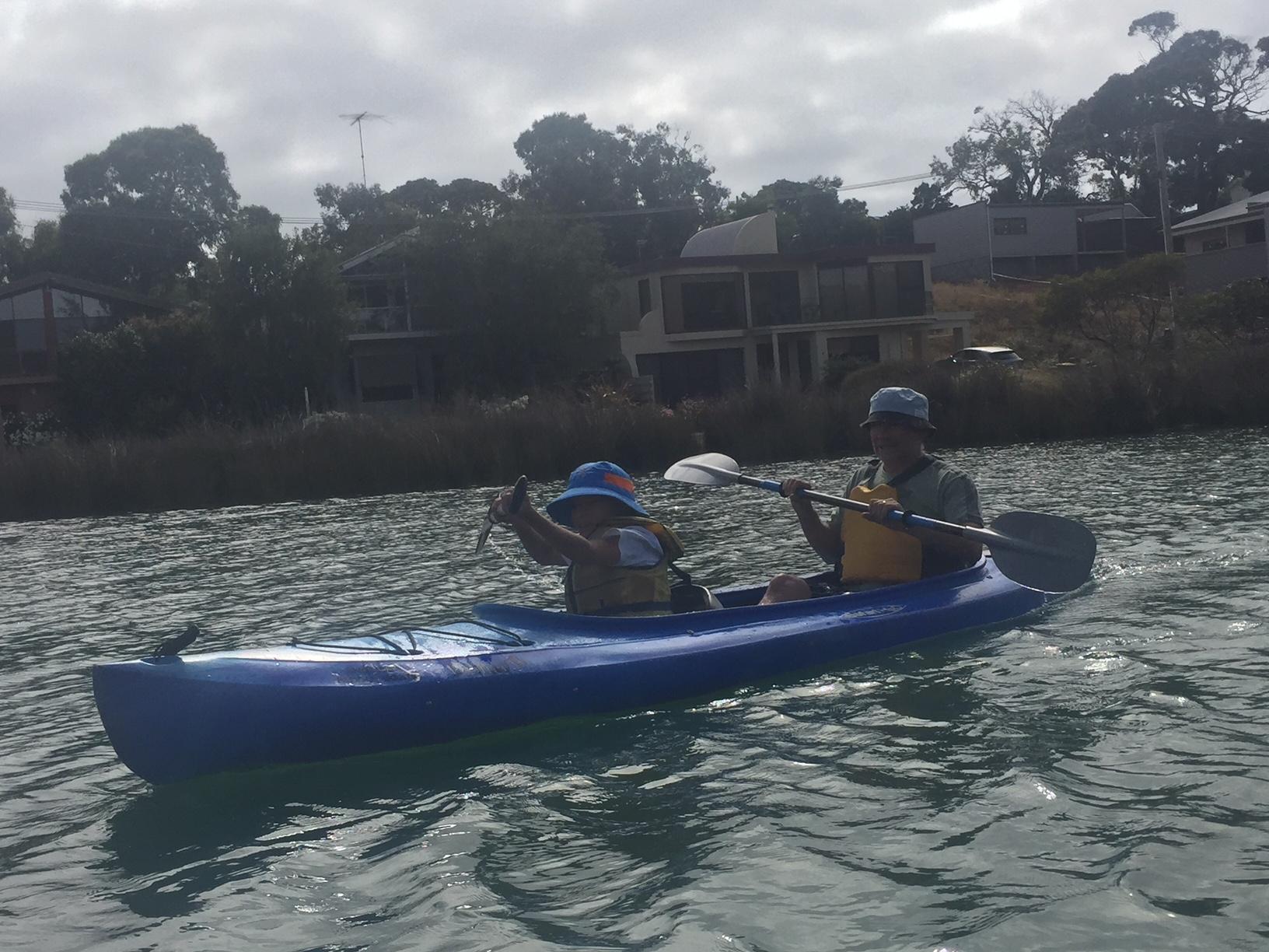 Day – taking birthday boy for a row