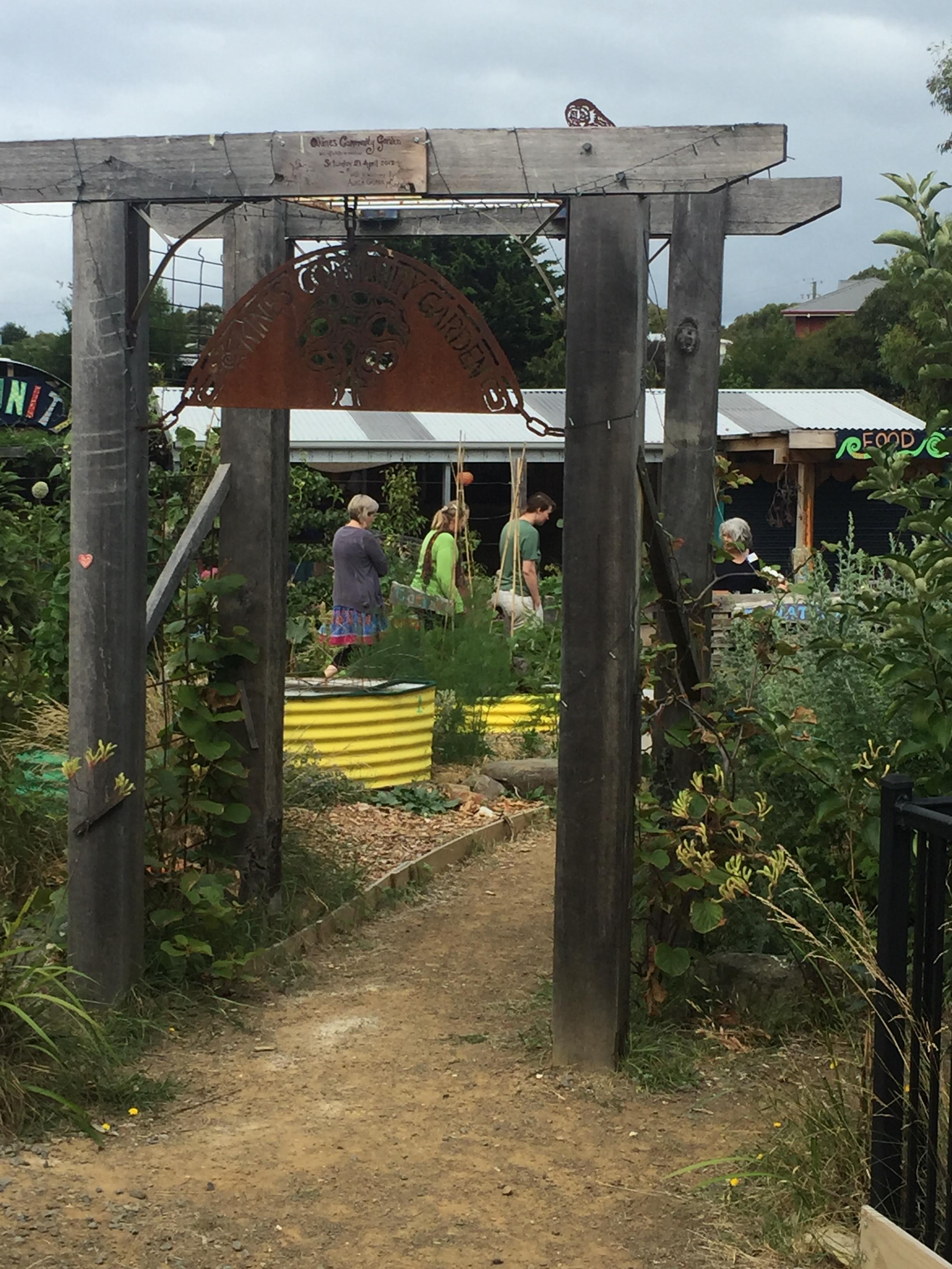 PDC community garden entrance