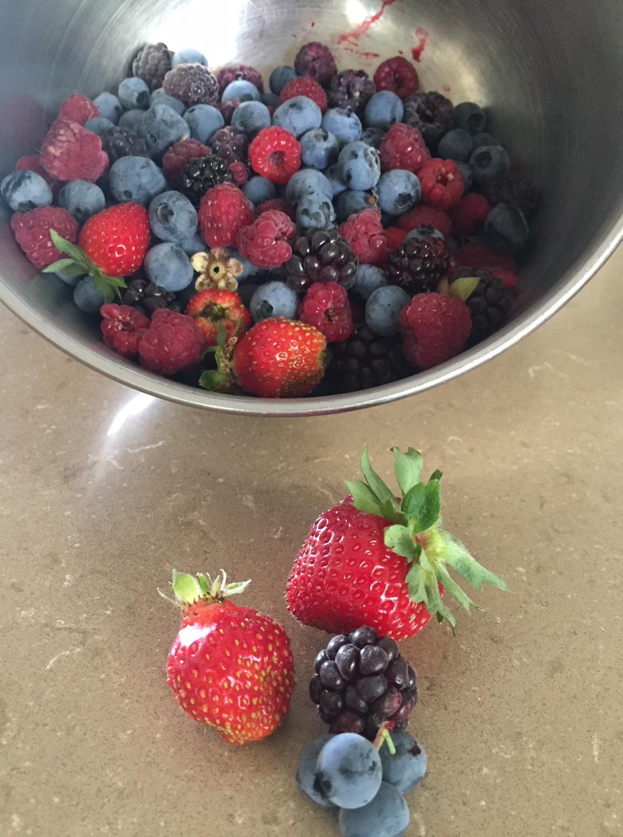 Summer fruit harvest