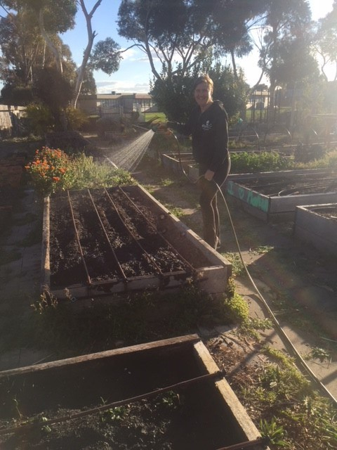 Spring – watering new beds