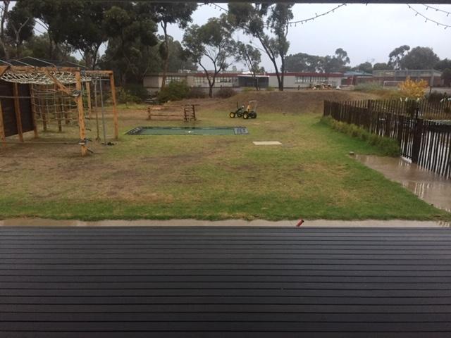 Rain – backyard