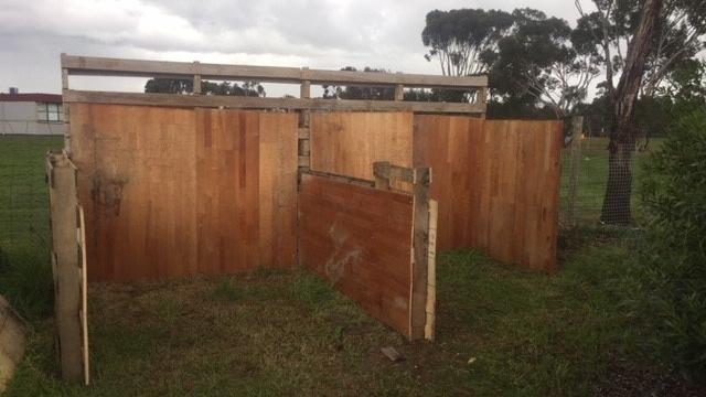 Compost bins built